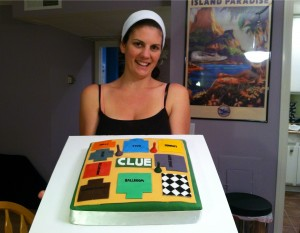 Clue board game cake - almost finished!