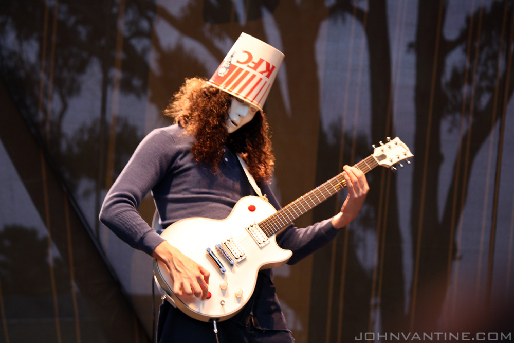Buckethead playing guitar at Hardly Strictly Bluegrass