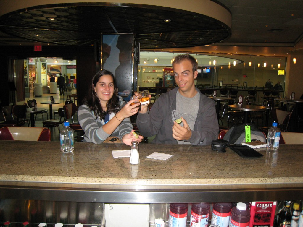 Cortney & John at JFK Airport before flying to Ghana