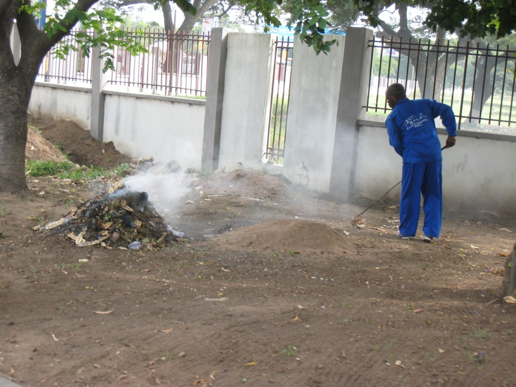 Burning trash in Ghana