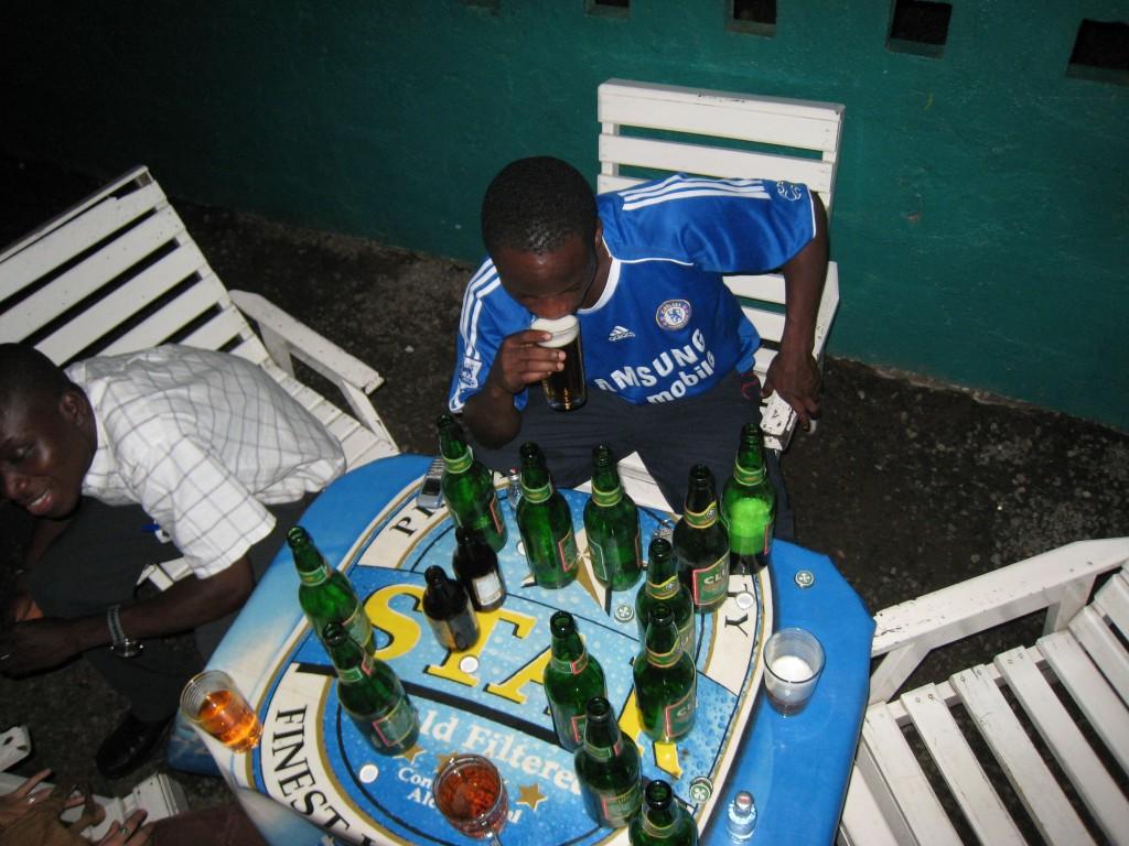 Drinking in Ghana