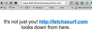Downforeveryoneorjustme.com showing VPSNOC downtime.