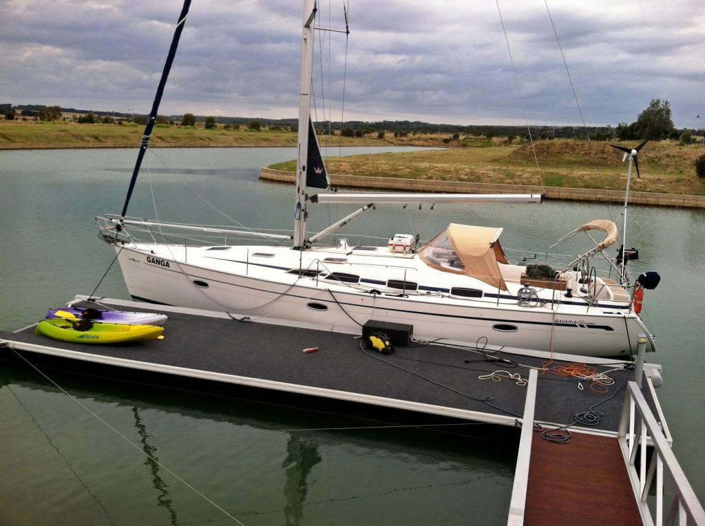 Bavaria yacht docked in Mount Martha