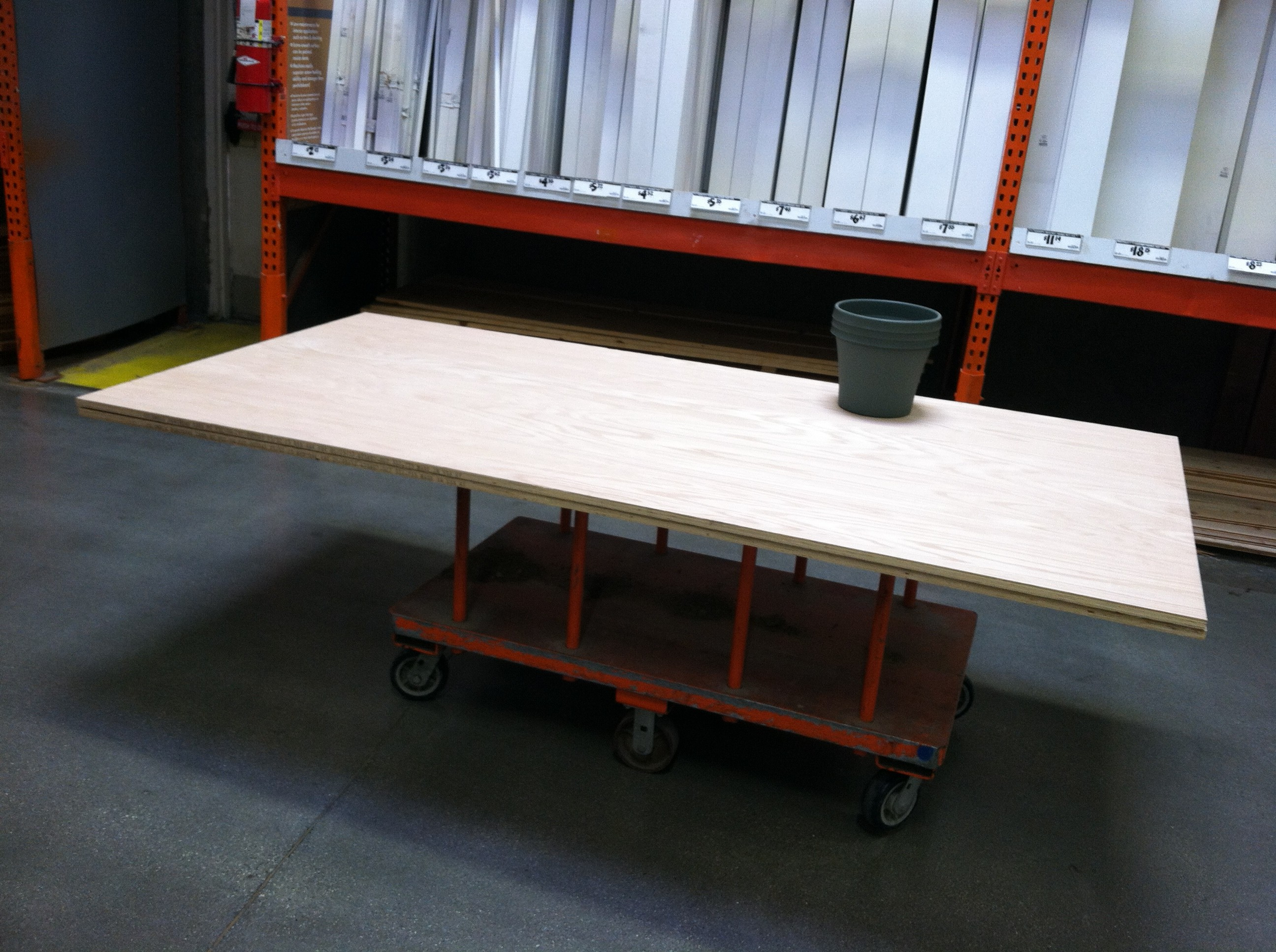 4x8 Plywood At Home Depot For Record Storage Shelf