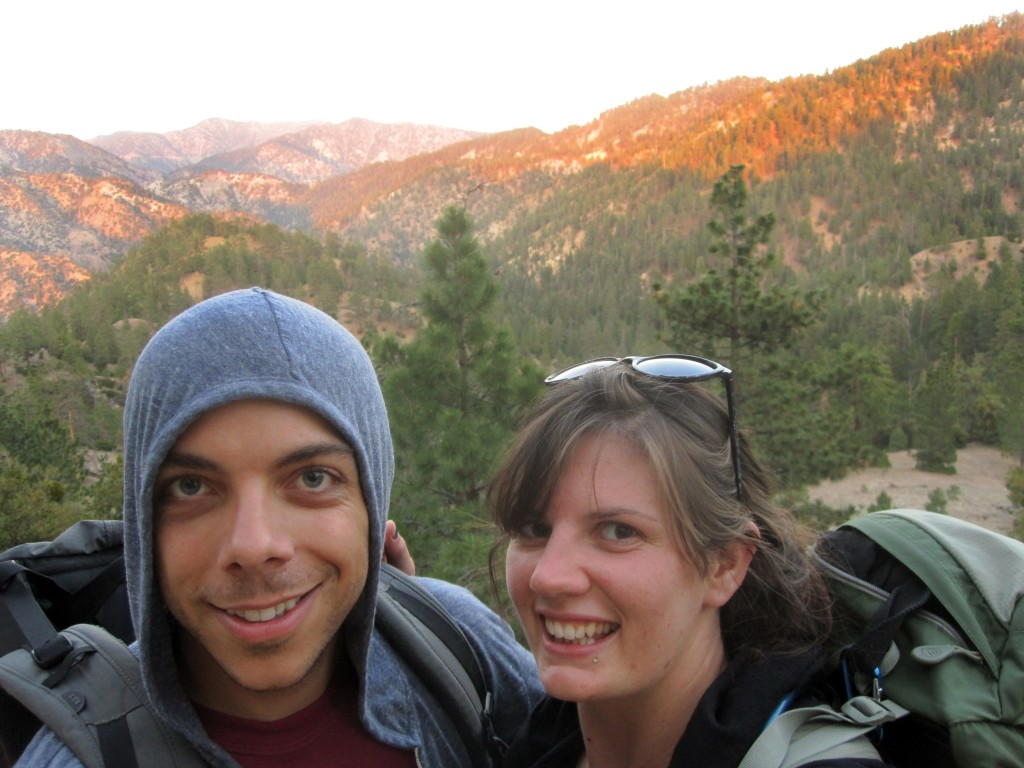 PCT selfie! Lauren and I at sunset.