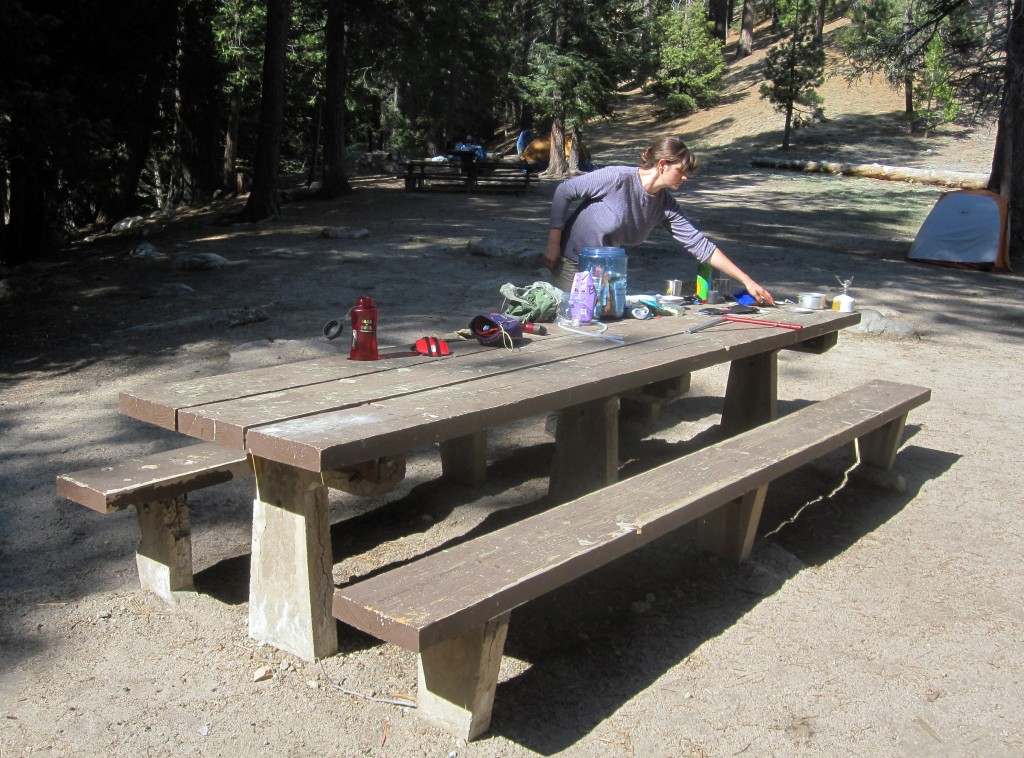 Lauren making breakfast at Cooper Canyon Camp