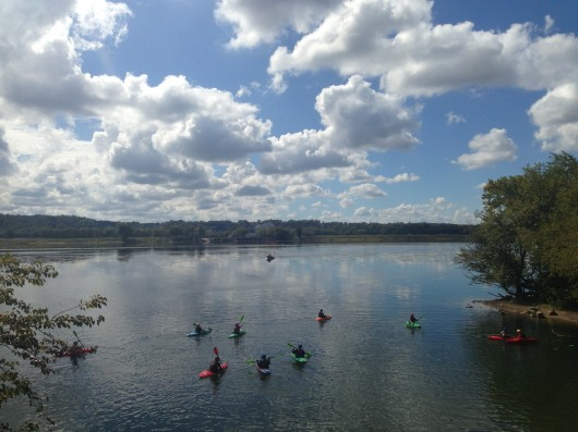 Kayaks along C&O Canal Trail