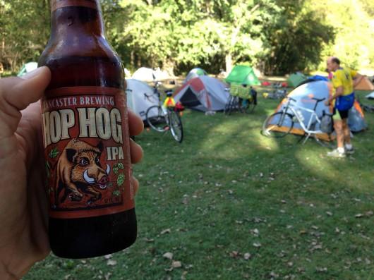 Beer at campsite
