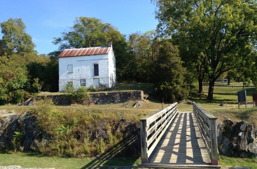 An old building along the C&O Canal Trail