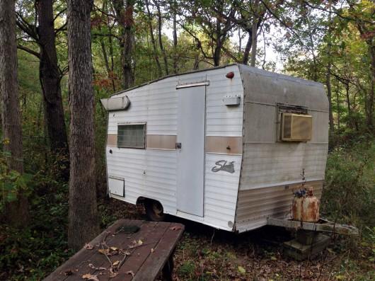 Abandoned trailer along C&O Canal