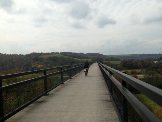 Crossing Salisbury viaduct