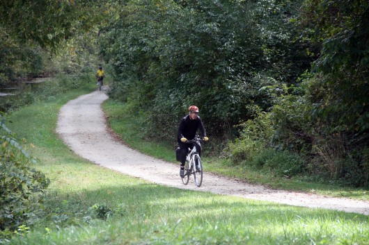 Dad on C&O Canal Trail