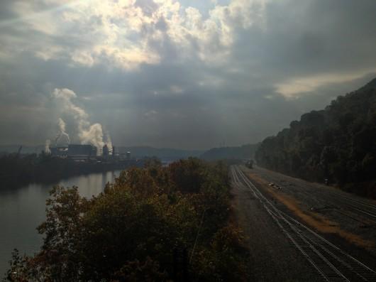 Train tracks outside of Pittsburgh