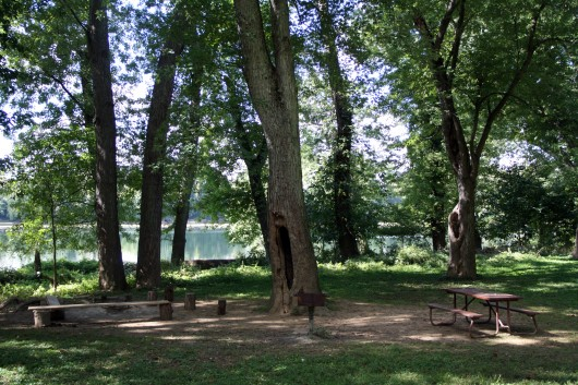 Campsite along the C&O Canal trail.