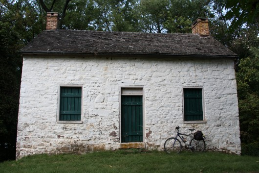 Lockhouse along the C&O Canal