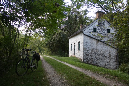 One of many lockhouses along the C&O Canal
