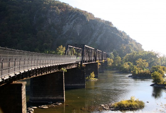 An old railroad bridge over the Potomac in Harper's Ferry