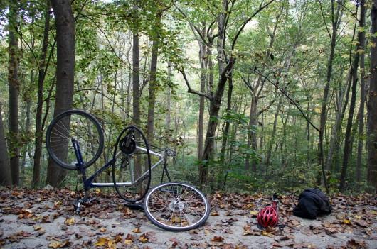 Flat tire along GAP Trail