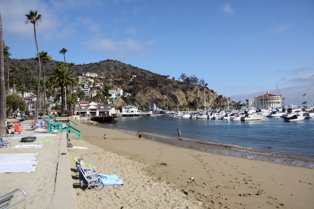 The beach in Avalon on Catalina Island