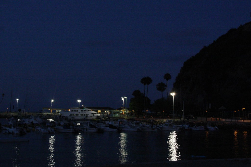 Catalina Island Avalon harbor sunset