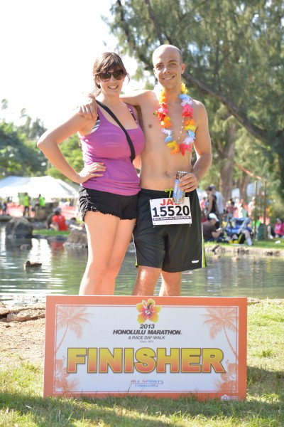 I finished the 2013 Honolulu Marathon!