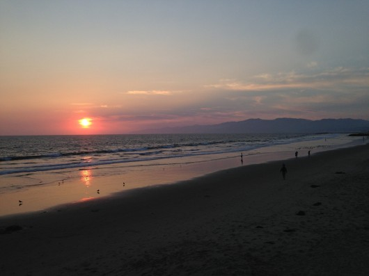 Sunsets on the beach