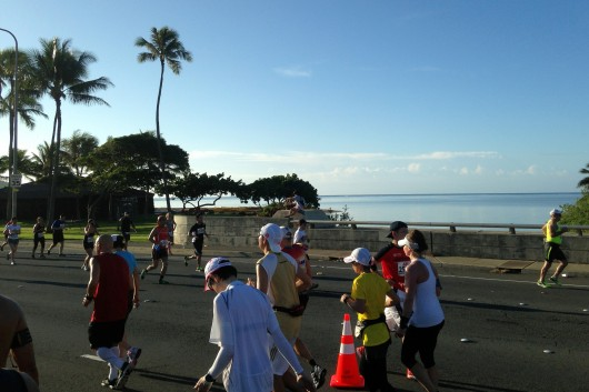 Early finishers of the 2013 Honolulu Marathon