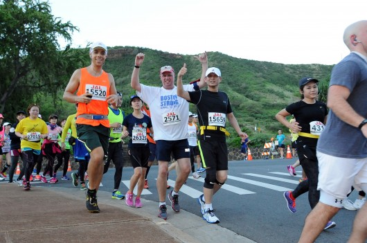 2013 Honolulu Marathon, feeling good