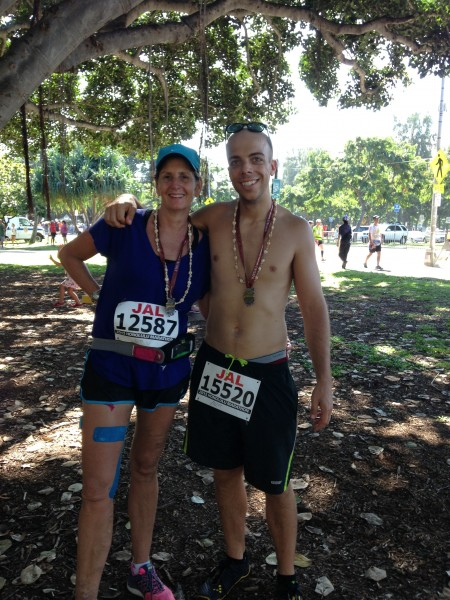 John & Tricia at 2013 Honolulu Marathon