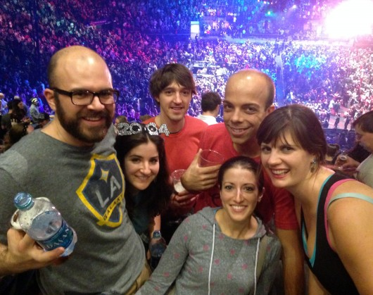 Group shot at Madison Square Garden on New Years Eve