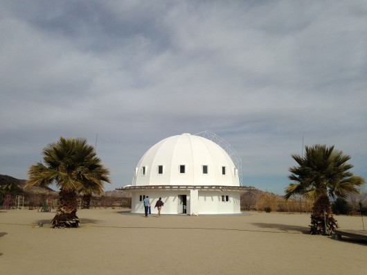 The Integratron, an all wood geodesic dome