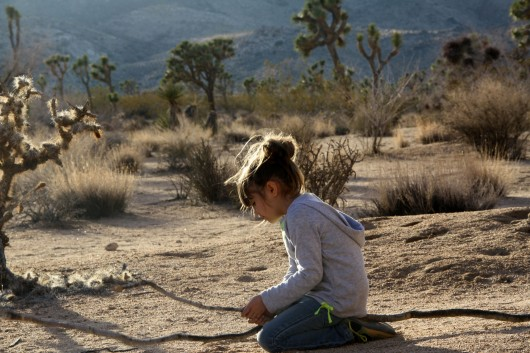 Makena playing in Joshua Tree
