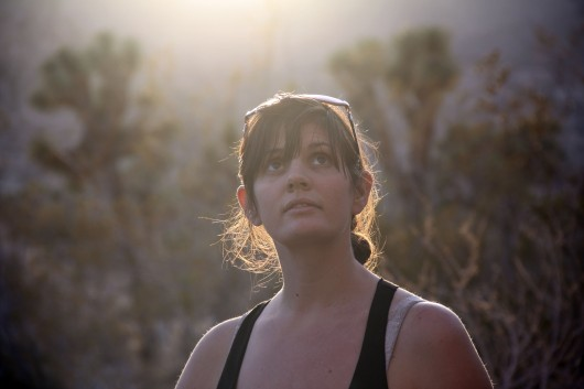 Lauren at AFPA Rock in Joshua Tree