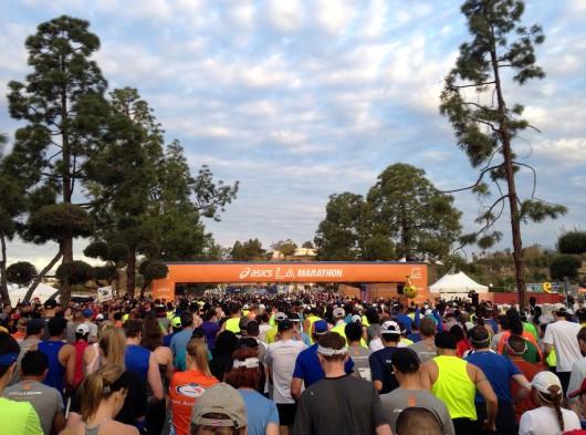 2014 LA Marathon starting line