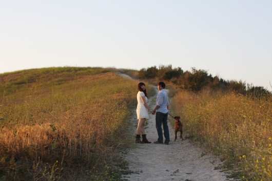 Engagement photo shoot on Cheeseboro Canyon Trail in Agoura Hills