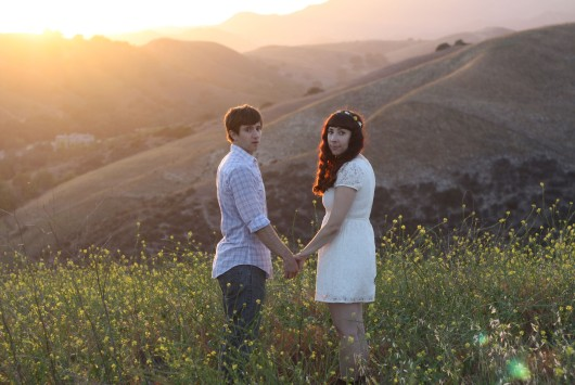 Engagement photos - Andy and Kira at dusk
