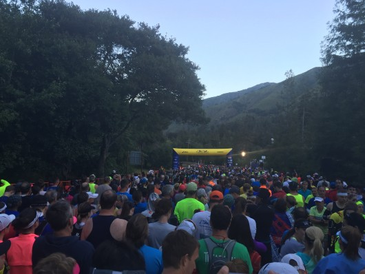 The starting line of the 2015 Big Sur Marathon
