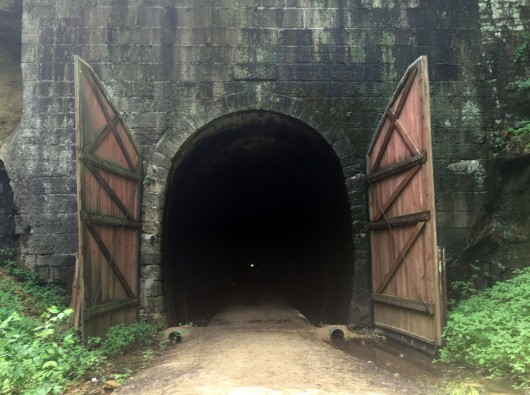 The third and longest tunnel on the 400 trail