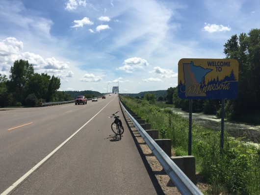 Crossing into Wabasha MN