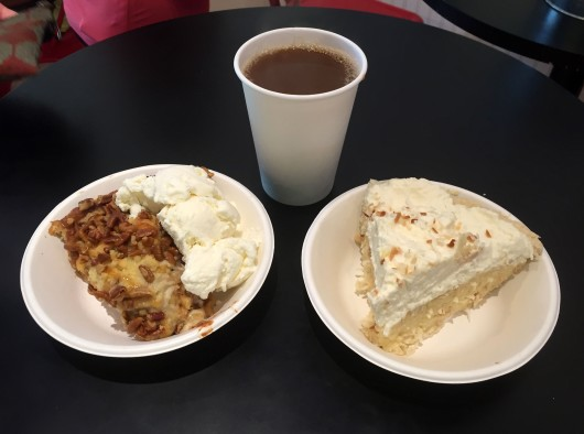 Coconut cream pie and apple pie