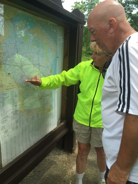 Looking at a Wisconsin map