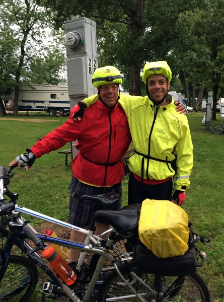 Rain gear with Dad