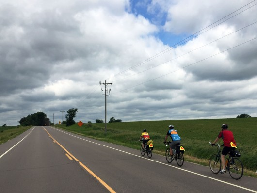 Biking through Randolph Township, MN