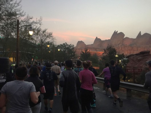 Running through Frontierland in Disneyland