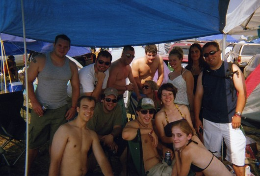 Kyle and the rest of the group at Bonnaroo in 2007