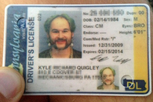 Kyle's amazing drivers license photo