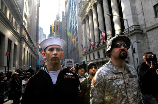 Kyle at an Occupy Wall Street event