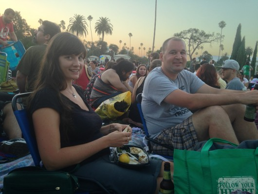 Lauren, Kyle and I at the Hollywood Forever Cemetery for Texas Chainsaw Massacre